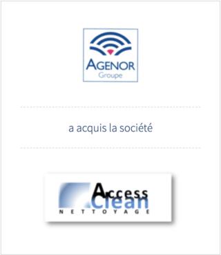 AURIS Finance accompagne le groupe AGENOR dans l'acquisition de l'entreprise de nettoyage ACCESS CLEAN